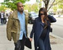 Kim Kardashian and Kanye West shopping in Soho
