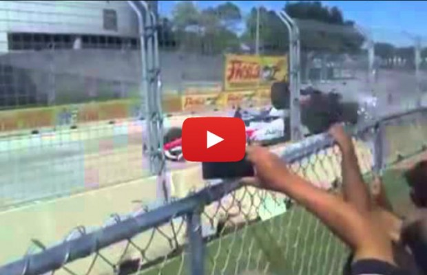 Car Crashes Video Fan View of Indy Car Crash