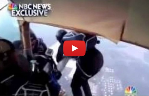 VIDEO: Mid-air collision involes 2 planes & skydivers
