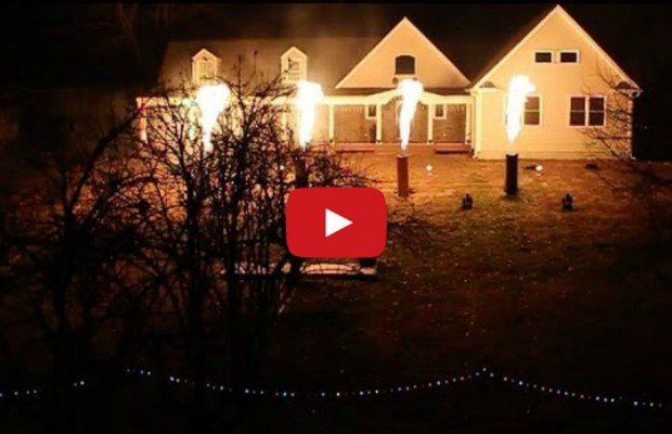 VIDEO: Christmas lights on fire | The Beaver FM